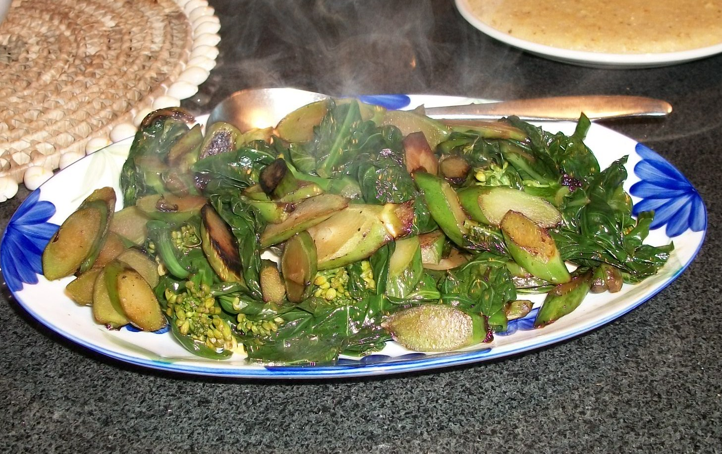 Steamed Chinese Broccoli